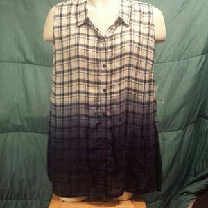 NWT HiLo Catherine's hombre sleeveless top, 2X